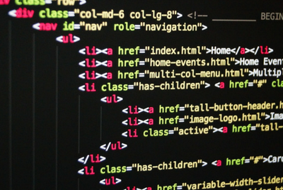 An example of the HTML scripting language